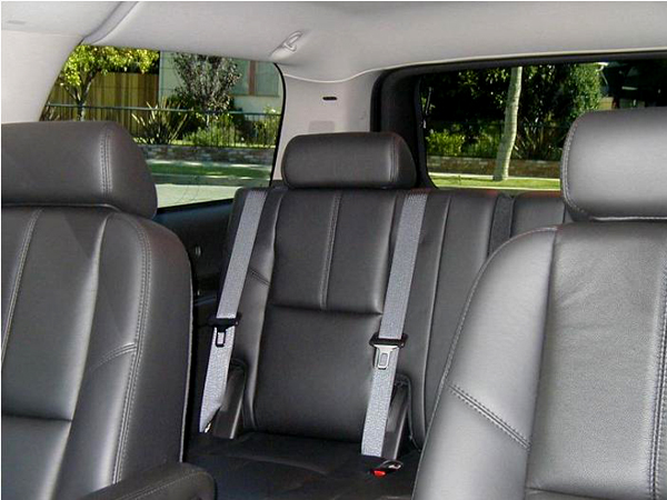 6 passenger executive suv back seat view