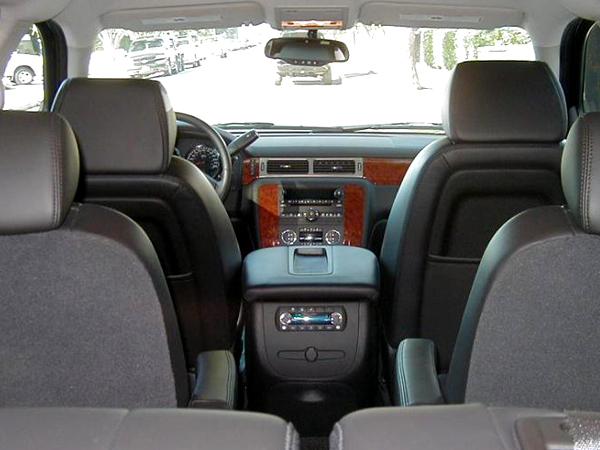 6 passenger executive suv interior view