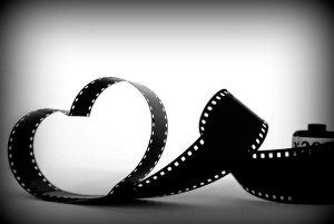Image of heart shaped film tape