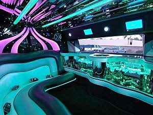 Image of interior of Branford limousine