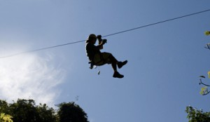 Image of zip lining at Brownstone Exploration & Discovery Park