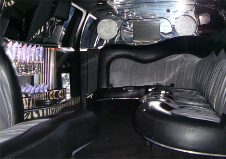 Image of interior of 16 Passenger Excursion Stretch Limousine in CT