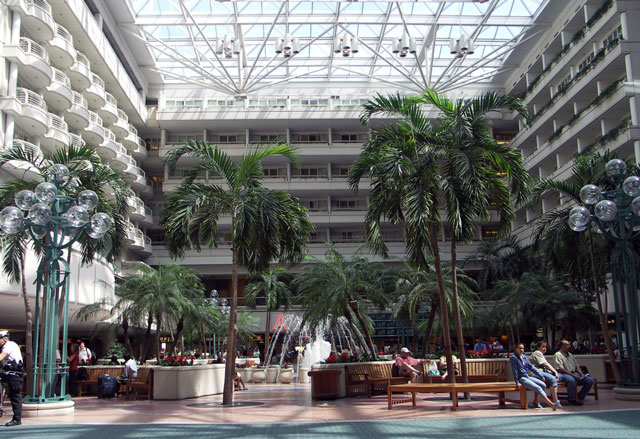 Atrium in Orlando International Airport picture