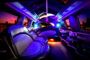 Image of interior of CT limousine